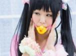 粉色可爱水手服 五木萝莉气质大爆发图片
