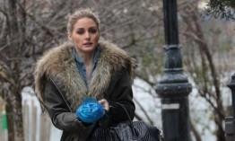 【图文】蕾哈娜翻领毛大衣拼色深冬送暖