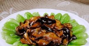 青菜炒香菇的做法步骤