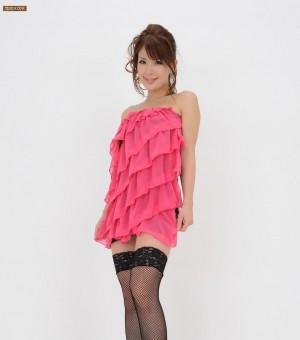 时尚高贵长腿模特三咲舞花 诱惑细网丝袜另有风