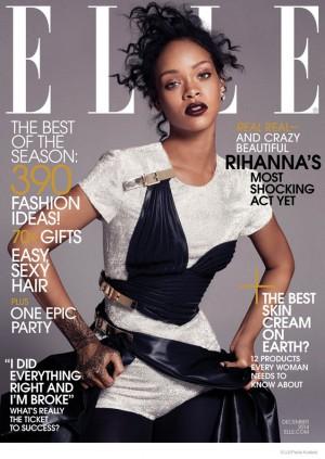 小天后蕾哈娜大尺度登美版《Elle》封面
