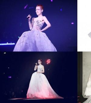郑秀文选择LAN YU Couture高定系列打造演唱会