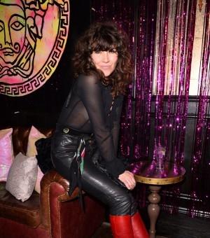 2015秋冬伦敦时装周预热派对 女星透视短裤性感吸